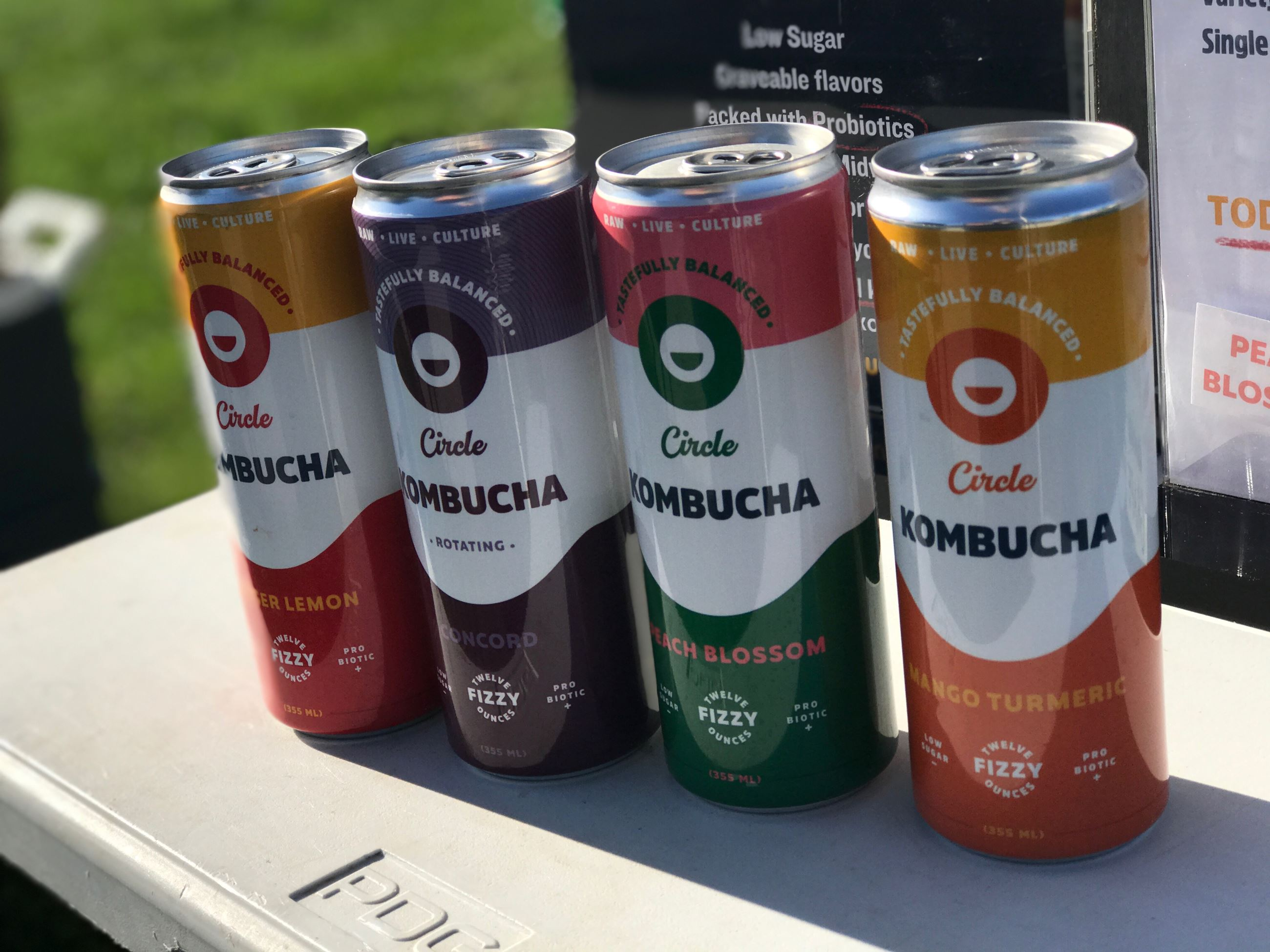 Circle Kombucha cans