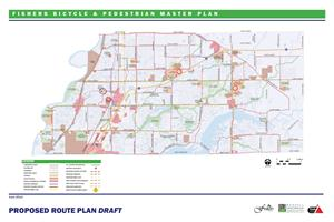 Fishers Pedestrian and Bike Map