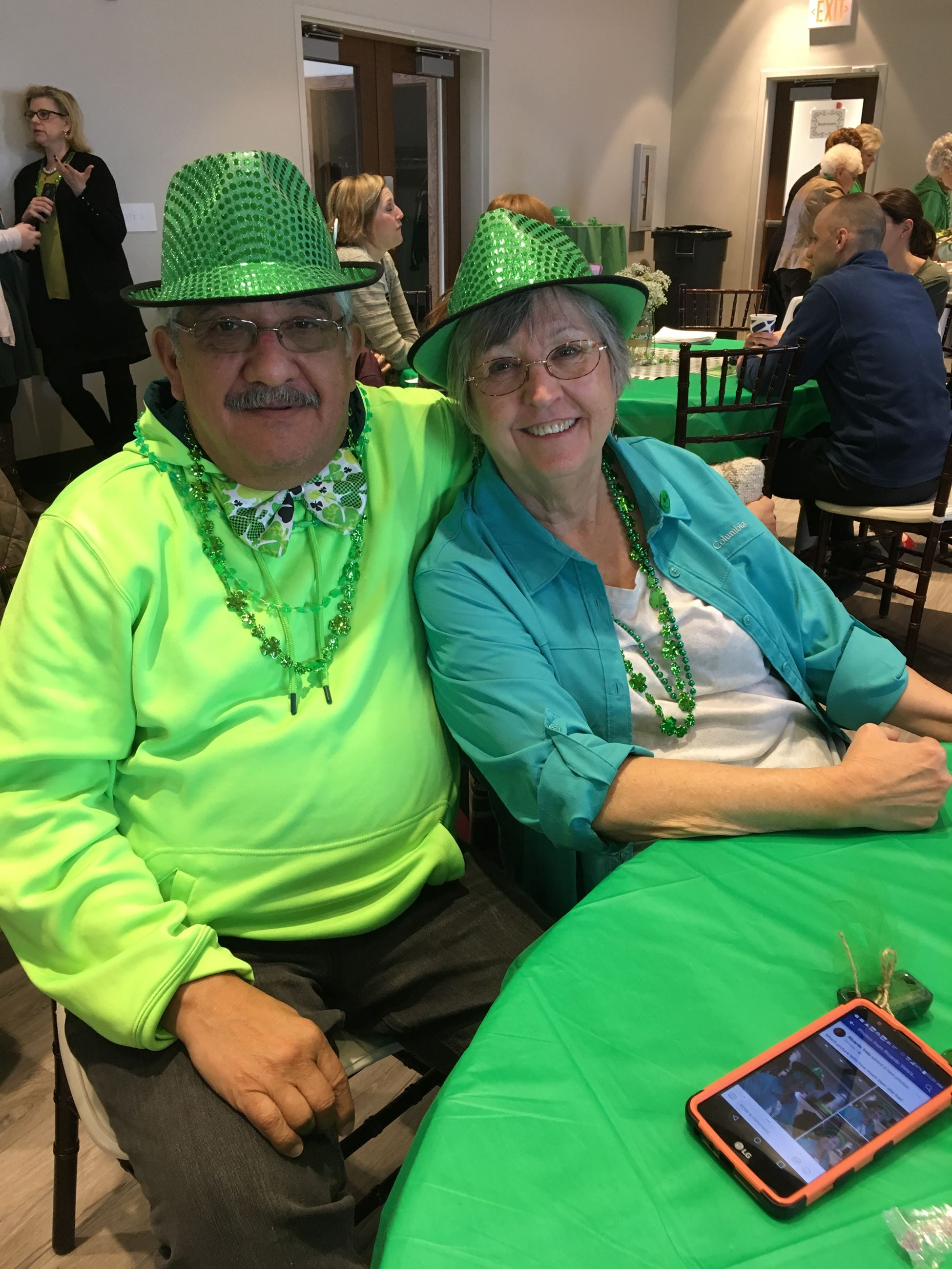 couple at st patricks day