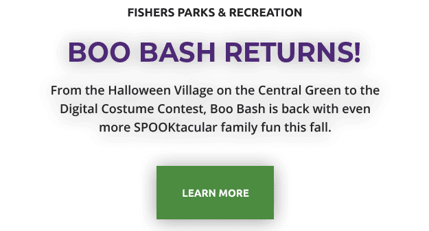 fishers parks and recreation | boo bash returns | From the Halloween Village on the Central Green to