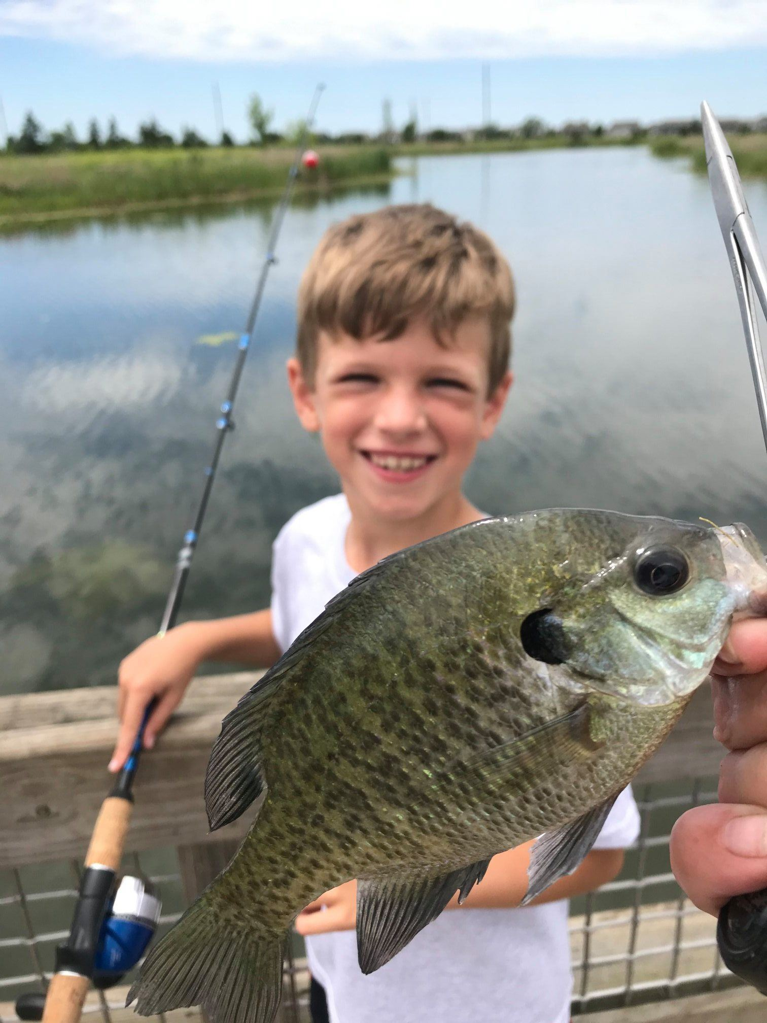 boy with fish
