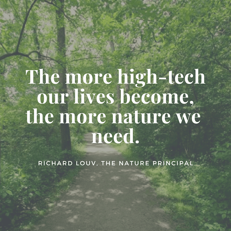 The more high-tech our lives become, the more nature we need. (2)